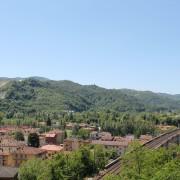 Vista panoramica del paese godibile dall'altopiano