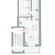 Appartamenti in vendita o affitto, Altopiano di Vado - Pianta app. Q