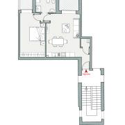 Appartamenti in vendita o affitto, Altopiano di Vado - Pianta app. S