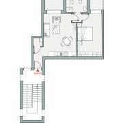 Appartamenti in vendita o affitto, Altopiano di Vado - Pianta app. N
